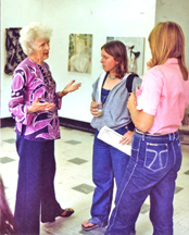 Helen Stockton in conversation with NYFAI students